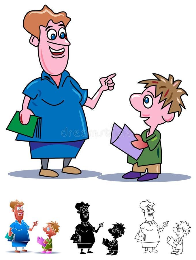 Baby lära vektor illustrationer