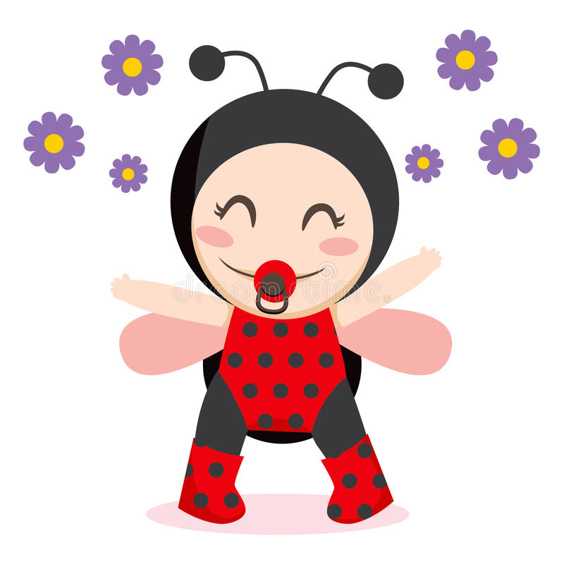 Baby Ladybug vector illustration