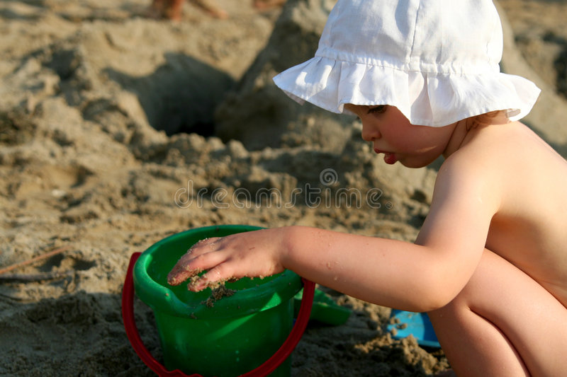 Download Baby at lake stock photo. Image of outside, outdoors, bathing - 1100280