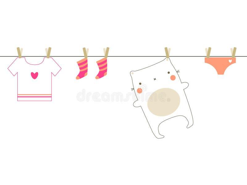 Baby laundry vector illustration