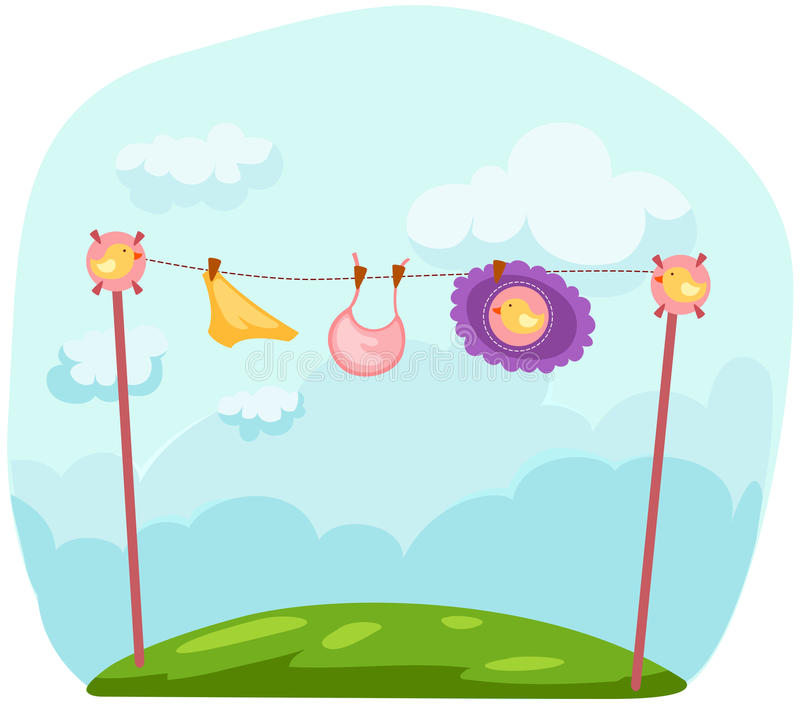 Baby laundry vector illustration