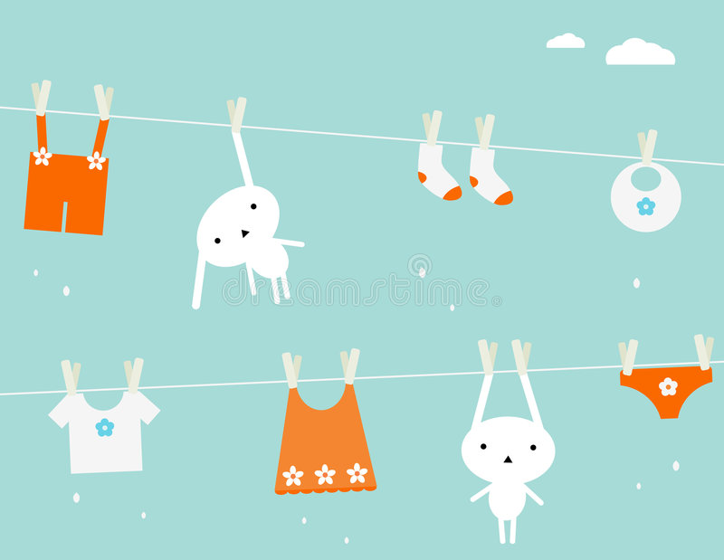 Download Baby laundry stock vector. Illustration of background - 8676526