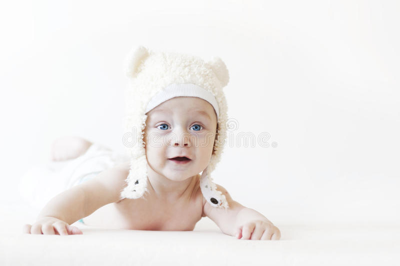 Download Baby laying stock image. Image of body, baby, looking - 28433791
