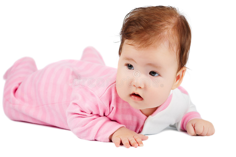 Download Baby learn to crawl stock image. Image of face, human - 3478135