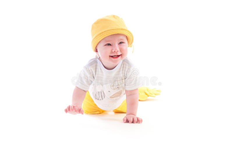 Download Baby learns to crawl stock photo. Image of girl, game - 23812346