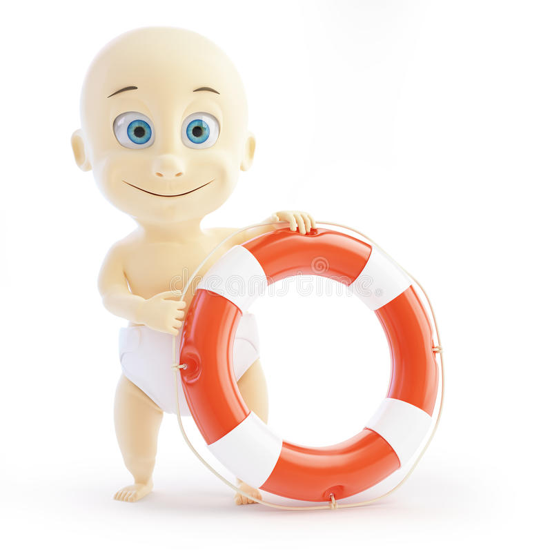 Download Baby lifebuoy stock illustration. Image of pretty, innocent - 28995769