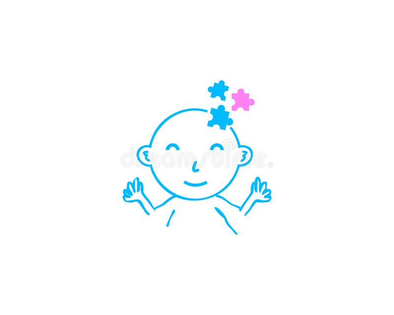 Baby logo template royalty free illustration