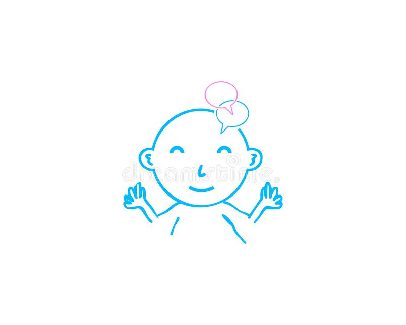 Baby logo template vector illustration