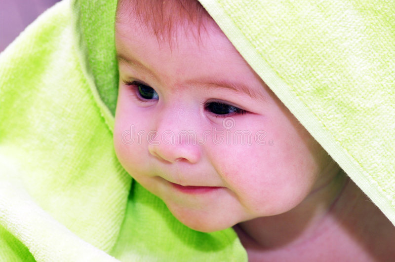 Download Baby looking stock photo. Image of adorable, bathing, health - 7353486