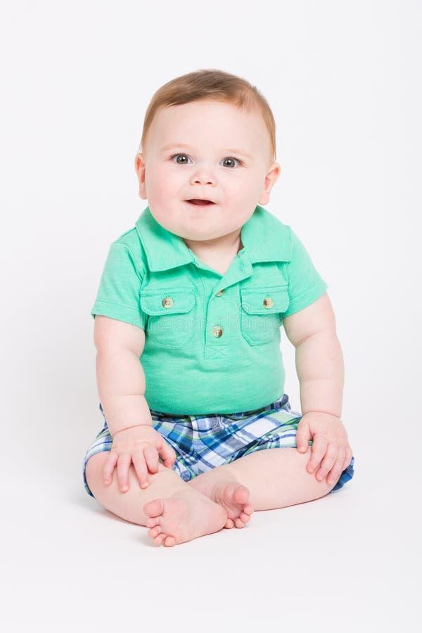 Baby Looking at Camera stock photography