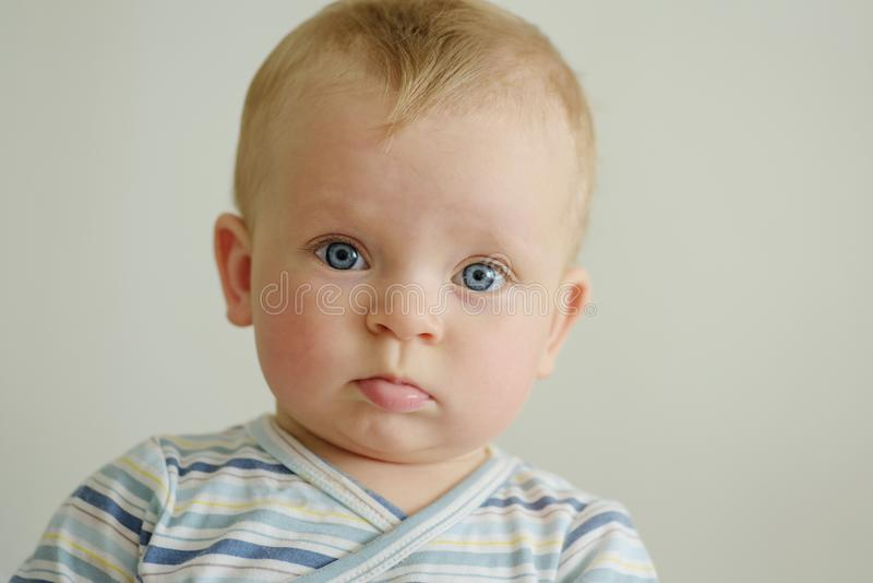 Baby is looking royalty free stock photos