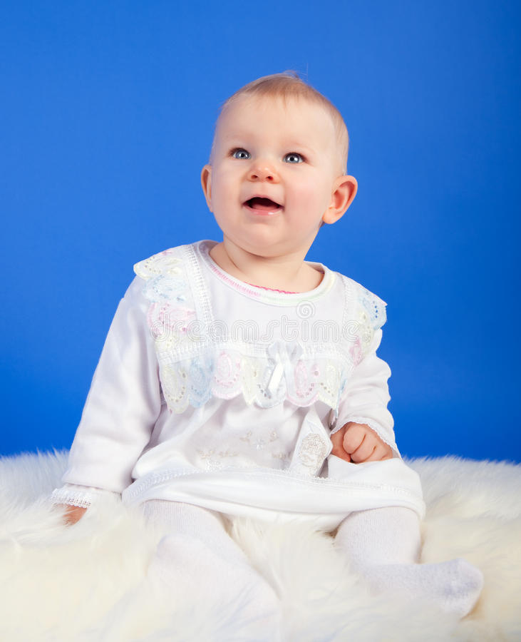 Download Baby looking up stock photo. Image of blond, person, little - 28829596