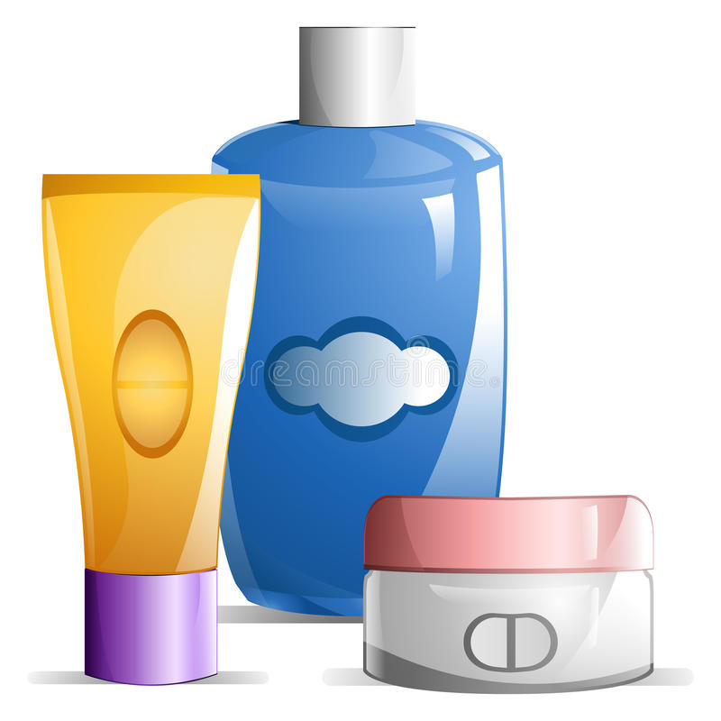 Baby Lotions royalty free illustration