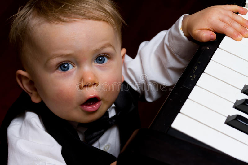 Baby maestro royalty free stock images