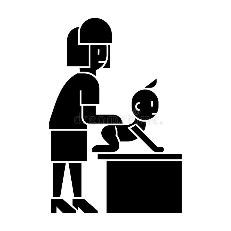 3d Man, Laying On A Massage Table Stock Illustration