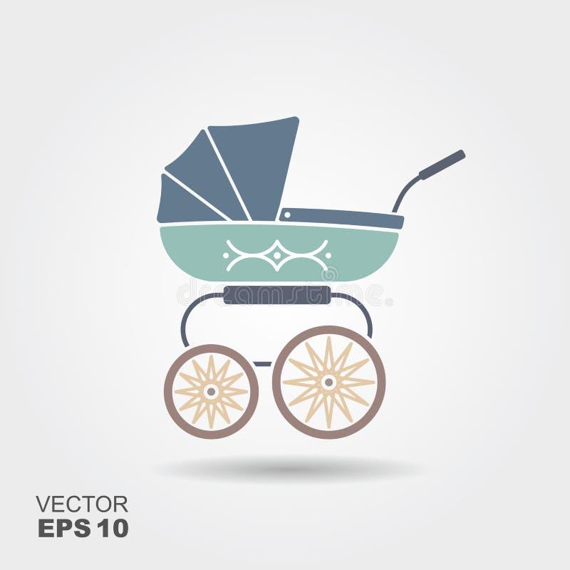 Baby med hjärtfelpramsymbol stock illustrationer