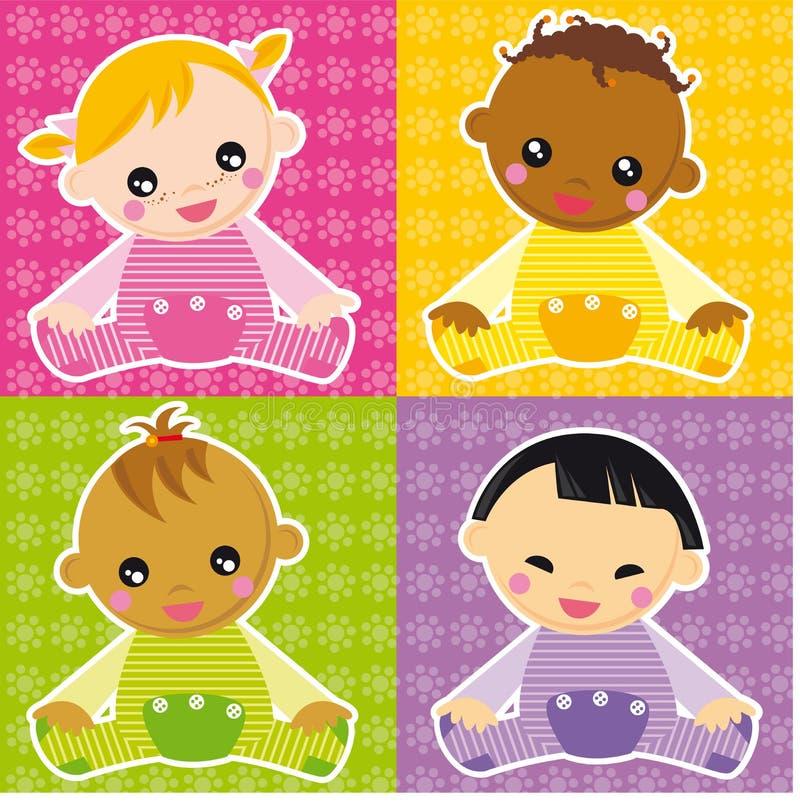 baby meisjes royalty-vrije illustratie