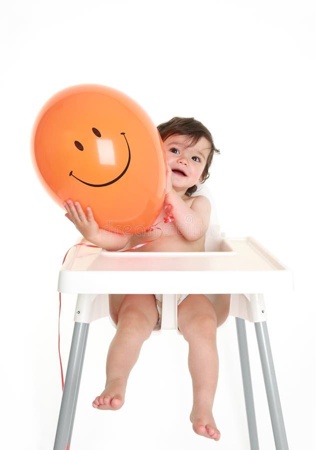 Baby met ballon royalty-vrije stock afbeelding