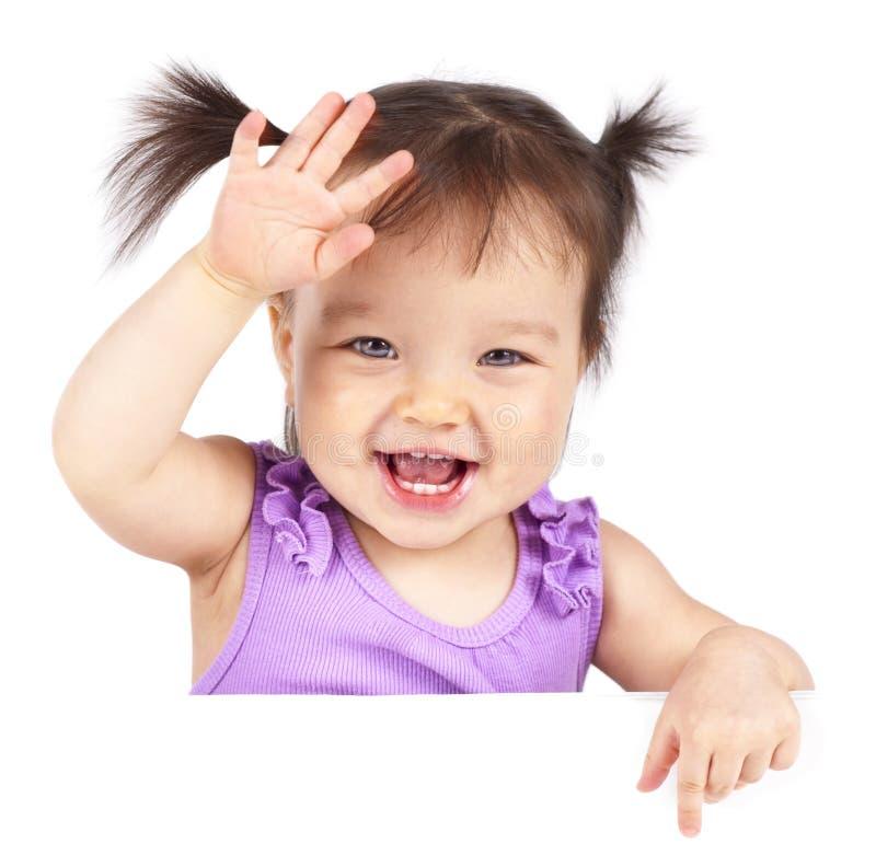 Baby met banner royalty-vrije stock afbeelding