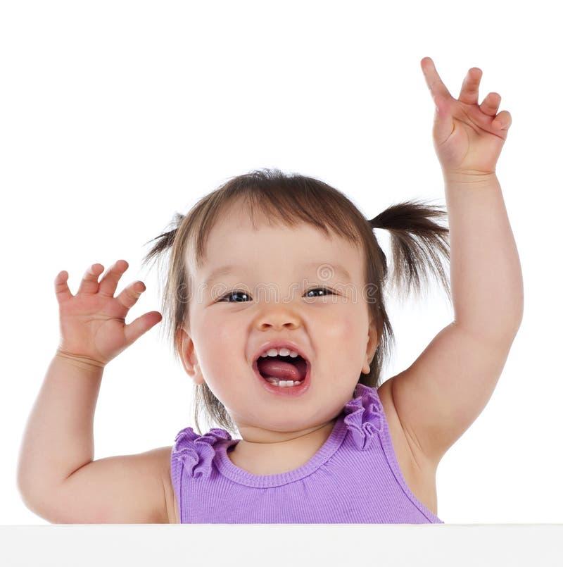 Baby met banner stock foto's