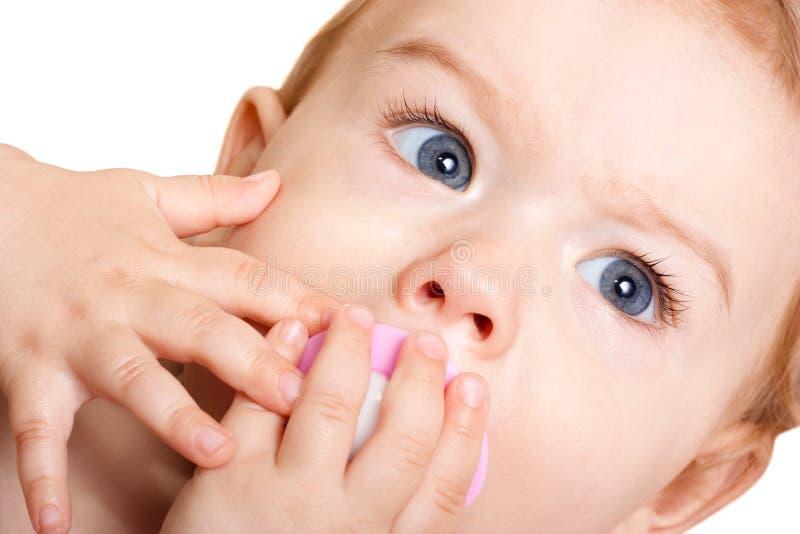 Baby met model stock foto