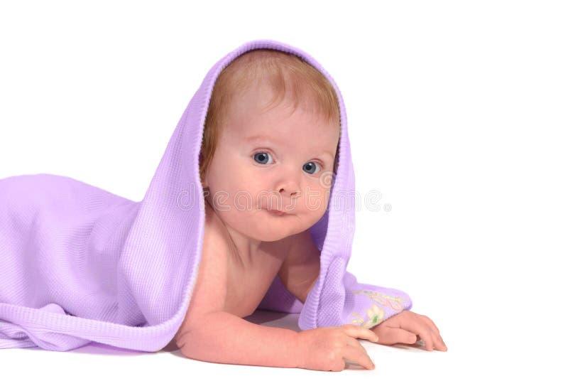 Baby met uitdrukking stock fotografie