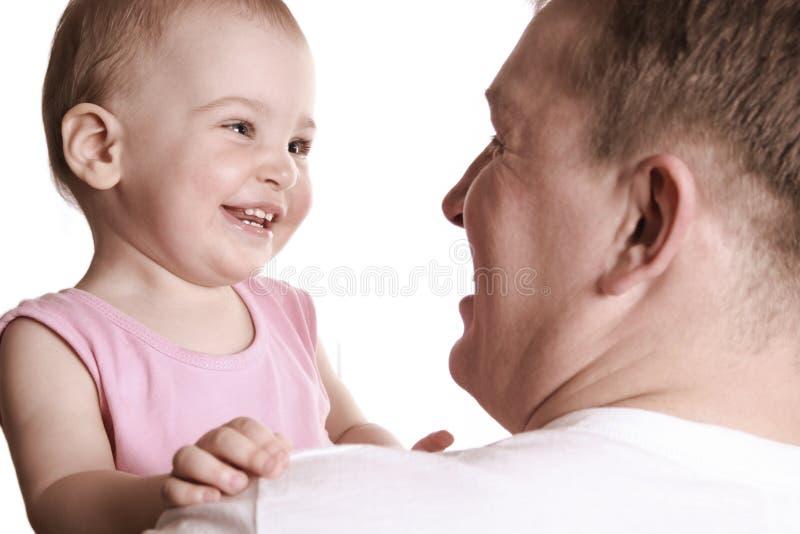 Baby met vader stock afbeeldingen