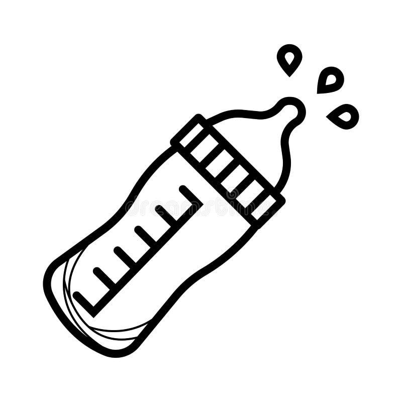 Baby milk bottle icon stock illustration
