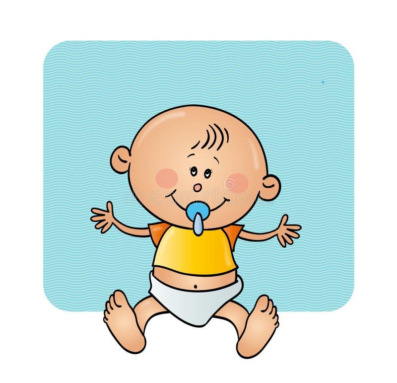 Baby mit einem Friedensstifter stockfotografie
