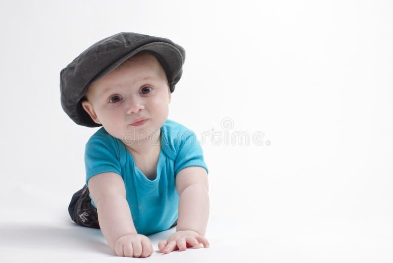 Baby mit Hut stockfotografie
