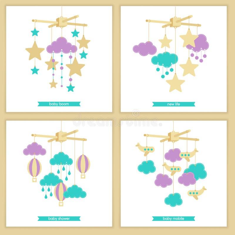 Baby mobile set 3 royalty free illustration