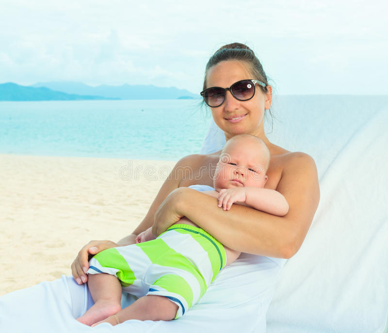 Download Baby and mom stock image. Image of beach, beautiful, childcare - 33950033