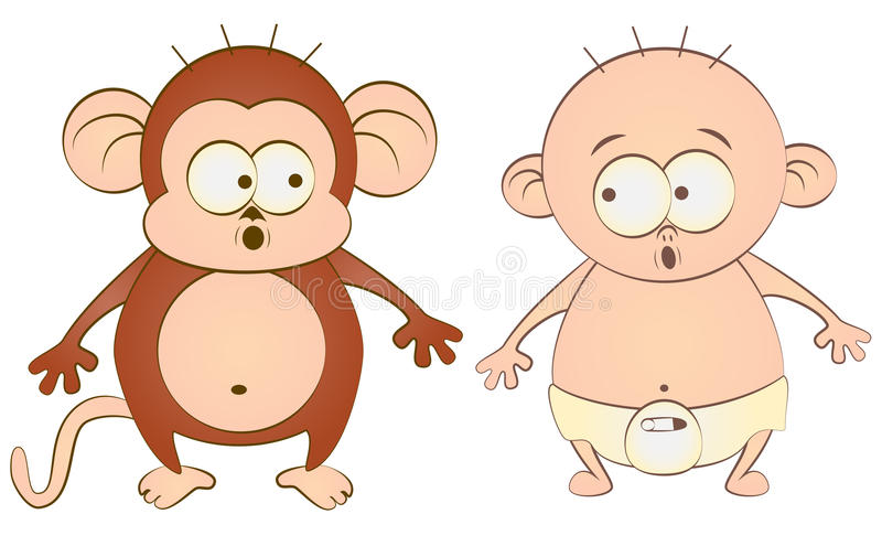 Download Baby and monkey stock vector. Image of monkey, goods - 23914831