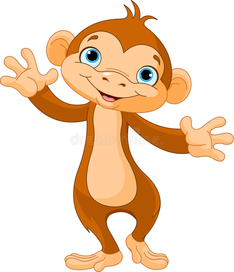 Baby monkey vector illustration