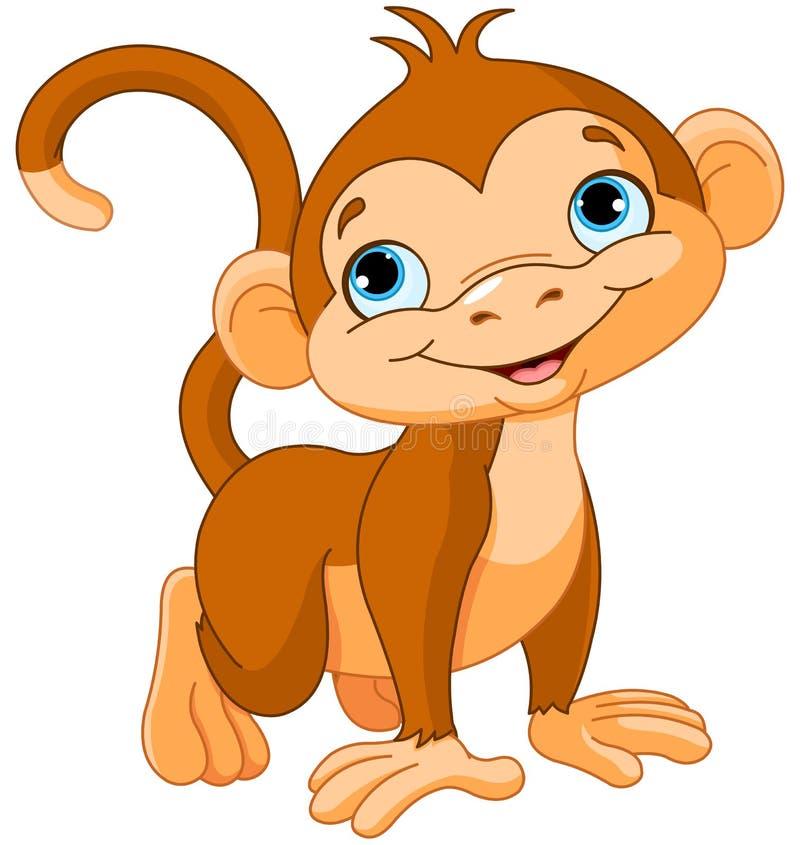 Baby monkey. Illustration of cute baby monkey