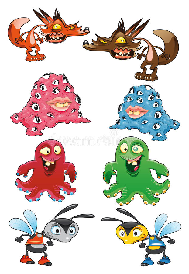 Download Baby monster stock vector. Illustration of draw, insect - 9614927
