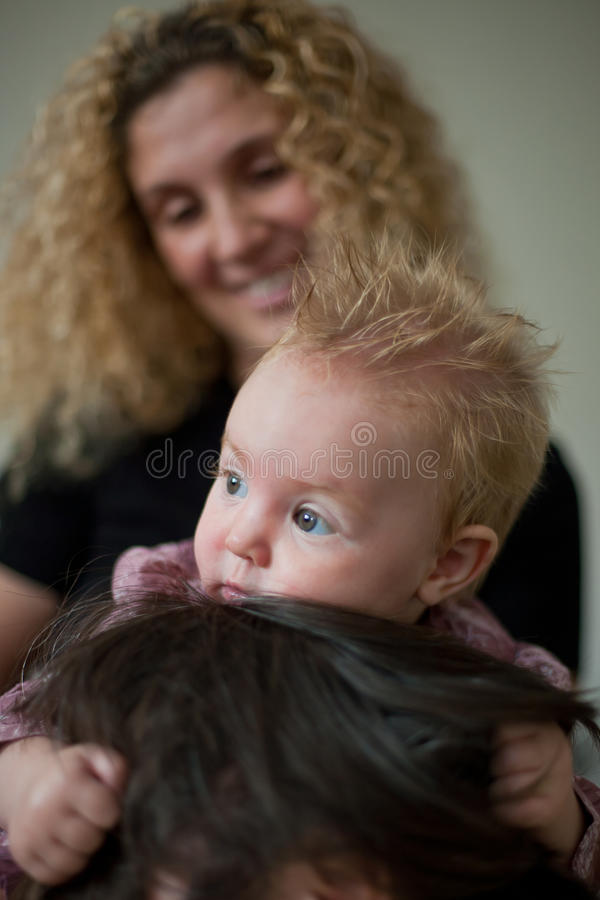 Baby And Mother Stock Photos