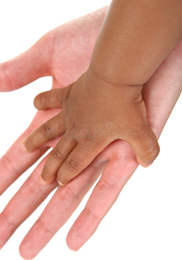 Baby And Mother Hands Together Royalty Free Stock Photography