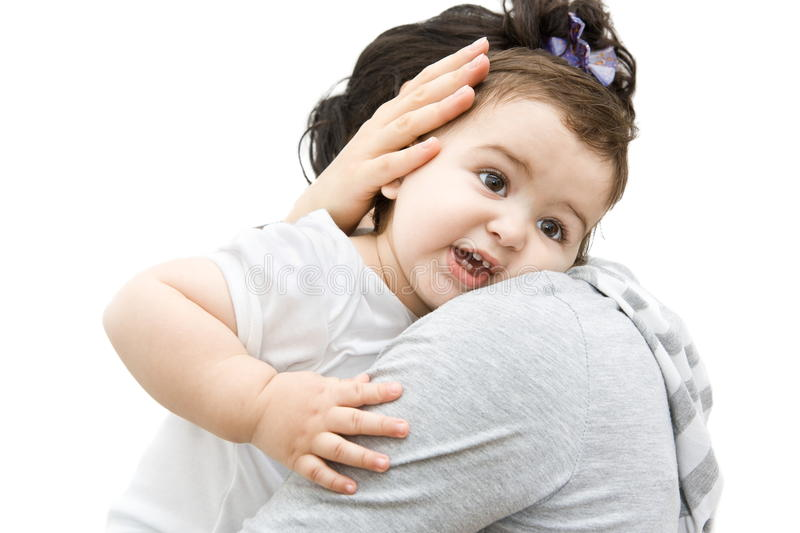 Baby in mothers arms