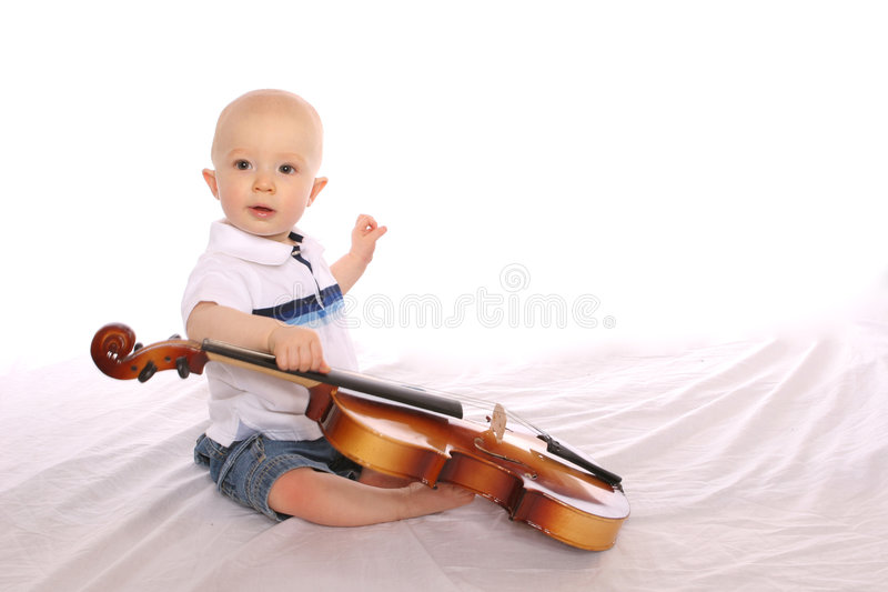 Download Baby Musician one stock image. Image of isolated, prodigy - 176051