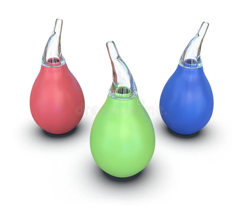 Baby nasal aspirator stock images