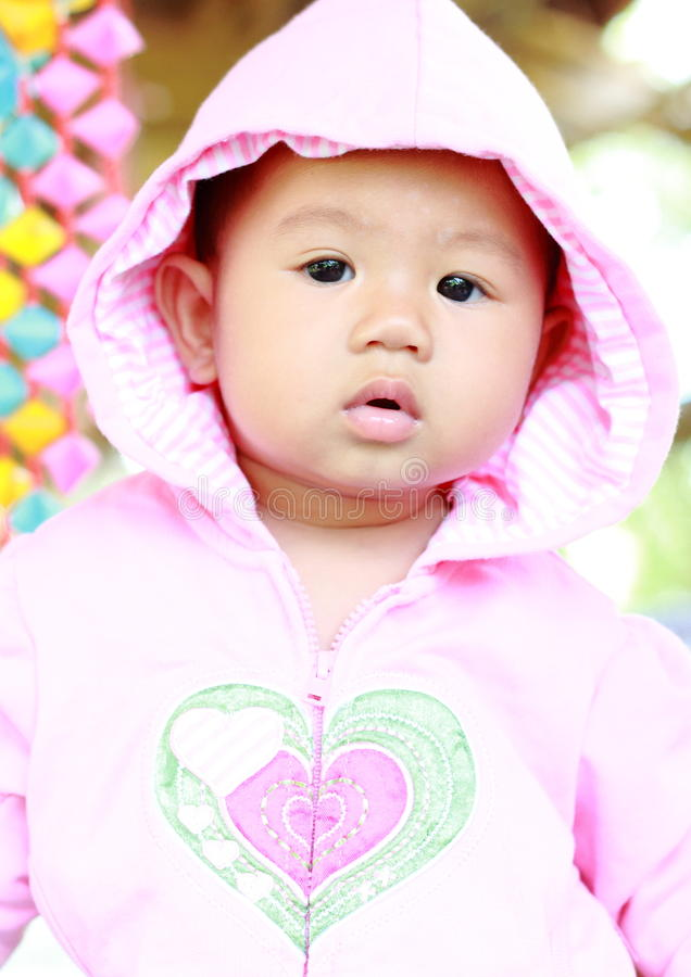 Baby-nettes Baby-Porträt stockfoto