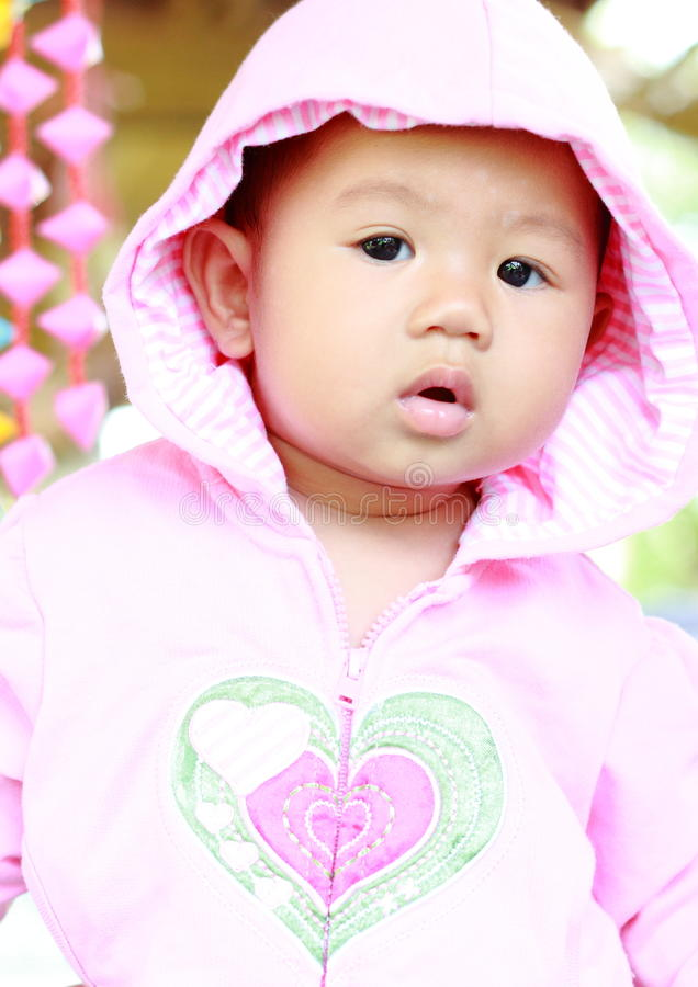 Baby-nettes Baby-Porträt lizenzfreie stockfotografie