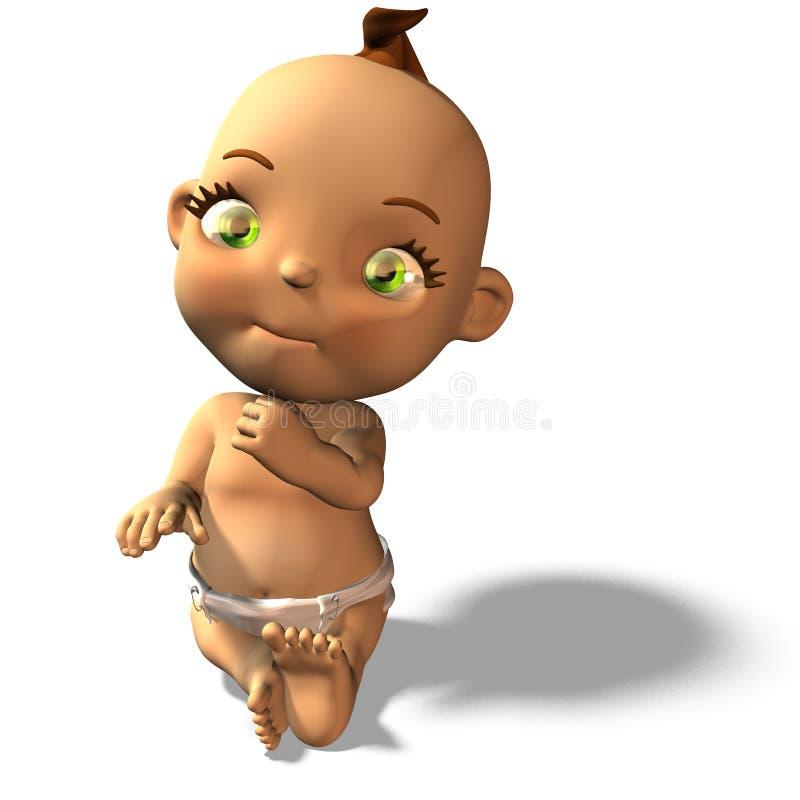Baby Nr 1 vector illustratie