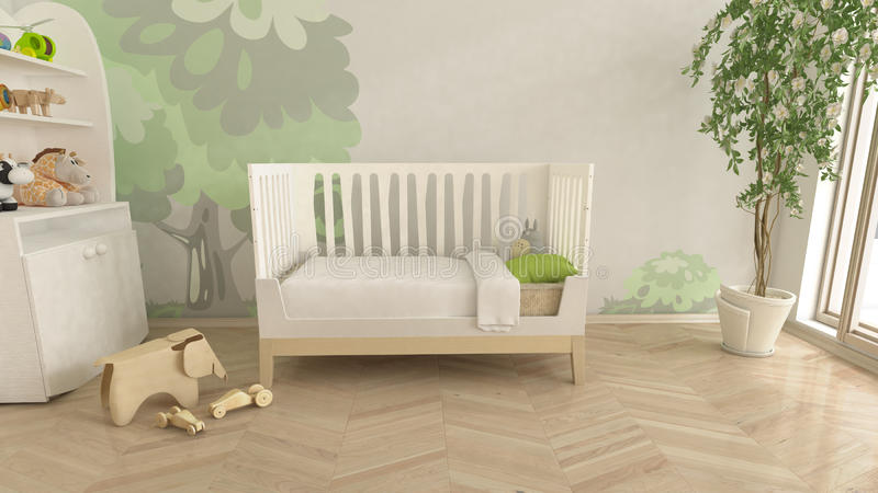 Baby Nursery children's room interior royalty free stock images
