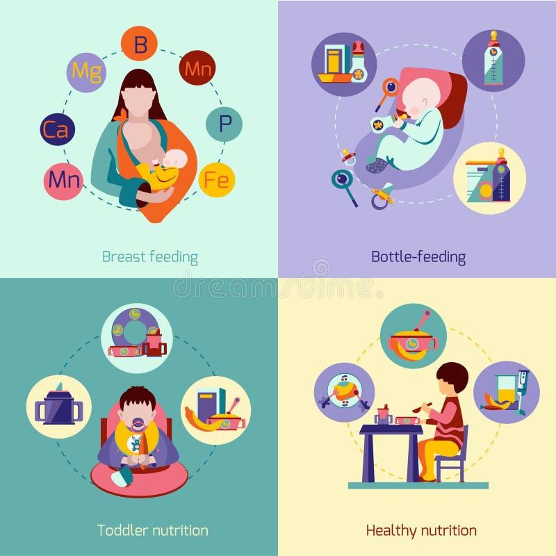 Baby Nutrition Set vector illustration