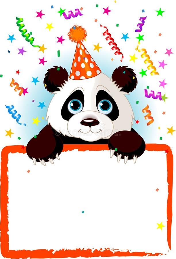 Baby Panda Birthday vector illustration