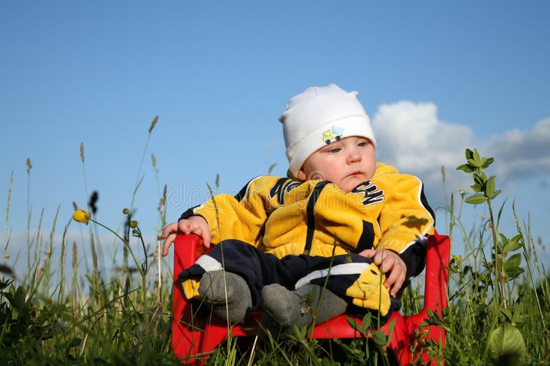 Baby in The Park stock photography