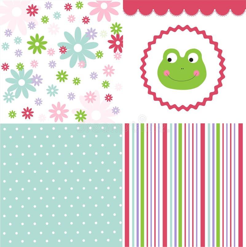 Baby pattern set royalty free illustration