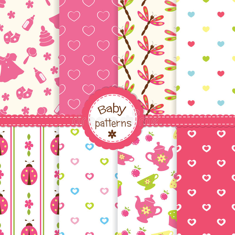 Download Baby patterns stock photo. Image of ladybug, polka, craft - 31953762